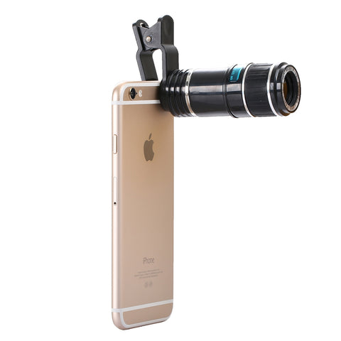 Buy Online  12X Optical Zoom Universal Mobile Phone Telescope Circumscribing Lens with Universal Clip Lens - MEGA Discount Online Store Ghana