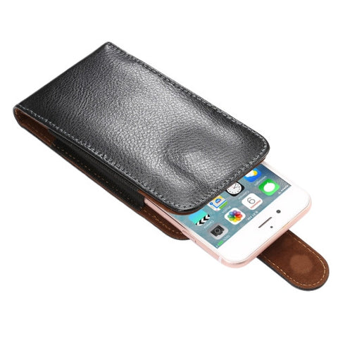5.7 inch Litchi Texture Vertical Flip Upright Genuine Leather Case / Waist Bag with Rotatable Back Splint for iPhone 7 & 6s Plus & 6 Plus, Samsung Galaxy Note 5 & Note 4 & S6 Edge+ & A9 & A8, etc Universal Cases - MEGA Discount Online Store Ghana