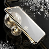 Buy Online  IPhone 6 & 6s Diamond Bling Luxury Plating PC Frame Transparent TPU Protective Case (Gold) Apple Cases - MEGA Discount Online Store Ghana