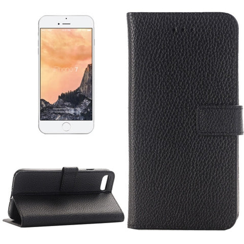Buy Online  IPhone 7 Lichee Texture Horizontal Flip Leather Case with Holder & Card Slots & Wallet(Black) Apple Cases - MEGA Discount Online Store Ghana
