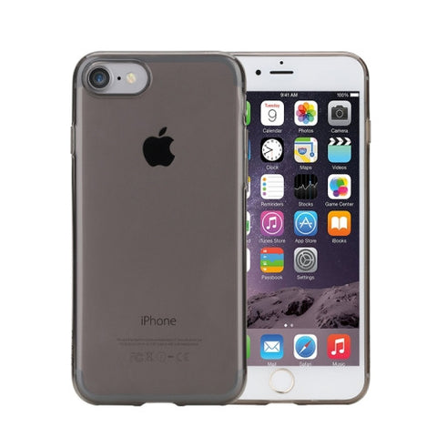 Rock for iPhone 7 Transparent Ultrathin Soft TPU Protective Back Case without USB Anti-Dust Plug(Black) Apple Cases - MEGA Discount Online Store Ghana