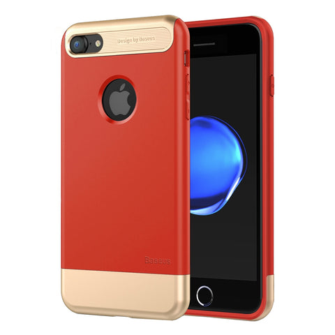 Buy Online  Baseus for iPhone 7 Taste Case Full Coverage Shockproof TPU + PC Protective Combination Case(Red) Apple Cases - MEGA Discount Online Store Ghana