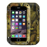 Buy Online  LOVE MEI for iPhone 7 Jungle Camouflage Patterns Professional and Powerful Dustproof Shockproof Anti-slip Metal Protective Case Apple Cases - MEGA Discount Online Store Ghana
