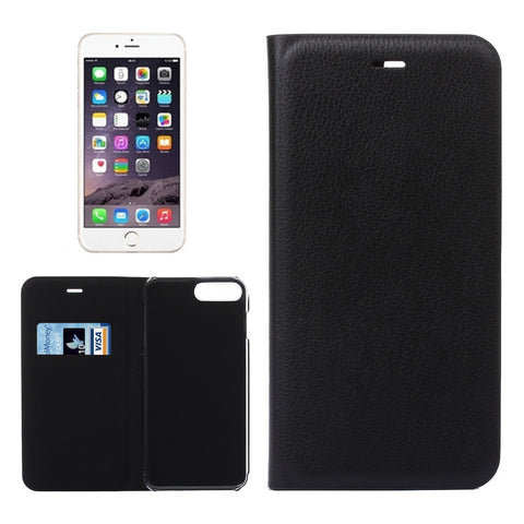Buy Online  IPhone 7 Litchi Texture Horizontal Flip Leather Case with Card Slot(Black) Apple Cases - MEGA Discount Online Store Ghana