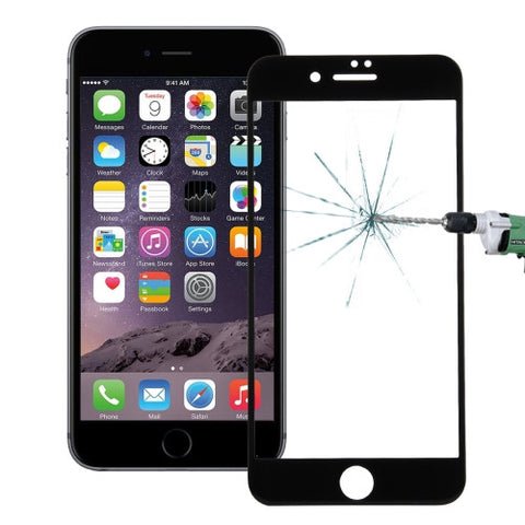 Buy Online  IPhone 7 Plus 0.26mm 9H Surface Hardness Explosion-proof Colorized Silk-screen Tempered Glass Full Screen Film(Black Screen Protectors - MEGA Discount Online Store Ghana