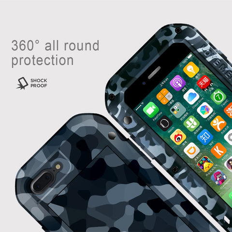 buy online e8d92 e2805 LOVE MEI for iPhone 7 Plus Camouflage Patterns Powerful Dustproof Anti-slip  Metal Protective Case