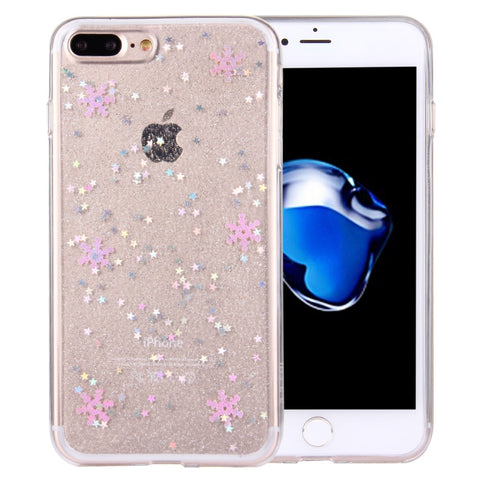 Buy Online  IPhone 7 Plus Flash Powder Twinkling Snowflakes Pattern Soft TPU Protective Case(Pink) Apple Cases - MEGA Discount Online Store Ghana