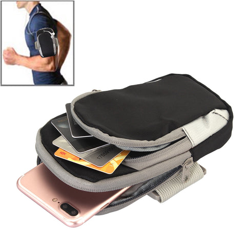 Buy Online  Universal Zipper Double Bag Multi-functional Sport Arm Case with Earphone Hole for iPhone X , iPhone, Samsung, HTC, Sony, Lenovo, Huawei, Xiaomi and other Smartphones, Internal Size: 17.5x10x3cm(Black) Bags & Backpacks - MEGA Discount Online Store Ghana