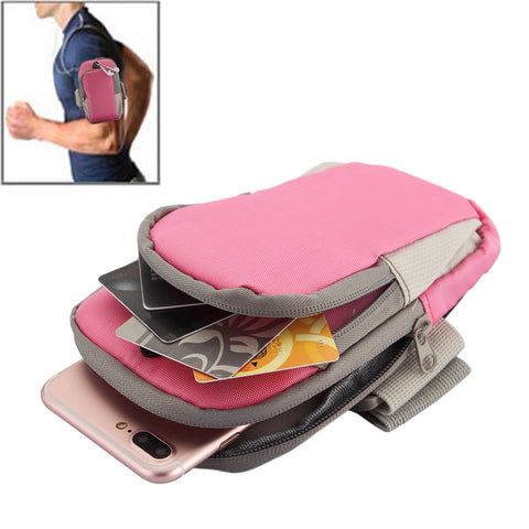 Buy Online  Universal Zipper Double Bag Multi-functional Sport Arm Case with Earphone Hole for iPhone X , iPhone, Samsung, HTC, Sony, Lenovo, Huawei, Xiaomi and other Smartphones, Internal Size: 17.5x10x3cm(Pink) Bags & Backpacks - MEGA Discount Online Store Ghana