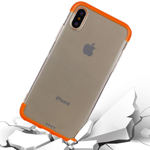 Buy Online  IPhone X TPU + PC Combination Protective Back Cover Case (Orange) Apple Cases - MEGA Discount Online Store Ghana