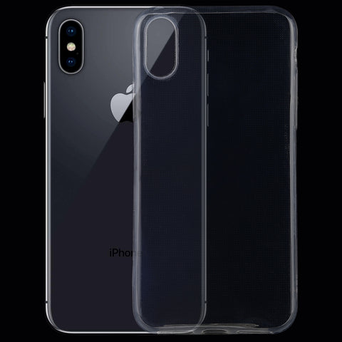 TPU Ultra-thin Transparent Case for iPhone X / XS(Transparent)