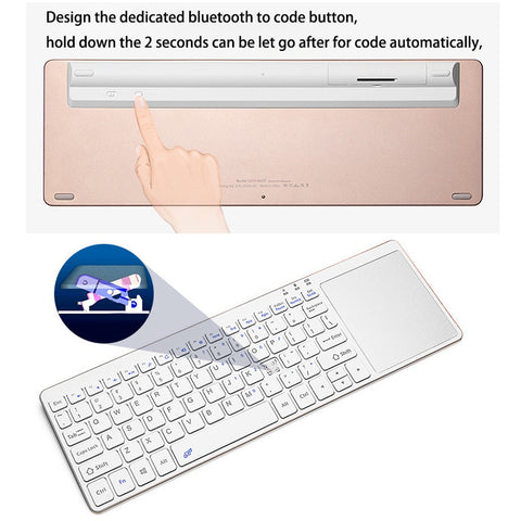 Buy Online  B020 Ultra-slim 80 Keys Bluetooth Wireless Keyboard with Touchpad (Black) Computer Accessories - MEGA Discount Online Store Ghana