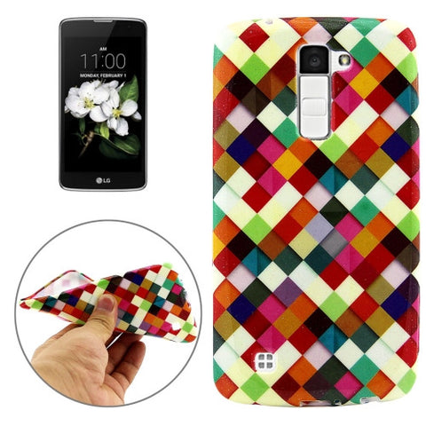 Buy Online  LG K7 Colourful Box Pattern Soft TPU Protective Cover Case LG Cases - MEGA Discount Online Store Ghana
