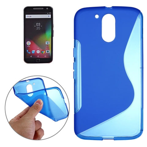 Buy Online  Motorola Moto G (4rd gen) & G (4rd gen) Plus S-Shaped Soft TPU Protective Cover Case(Dark Blue) Motorola Cases - MEGA Discount Online Store Ghana