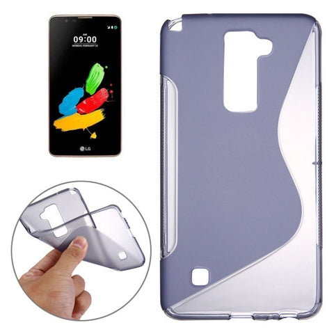 Buy Online  LG Stylus 2 S-Shaped Soft TPU Protective Cover Case(Grey) LG Cases - MEGA Discount Online Store Ghana