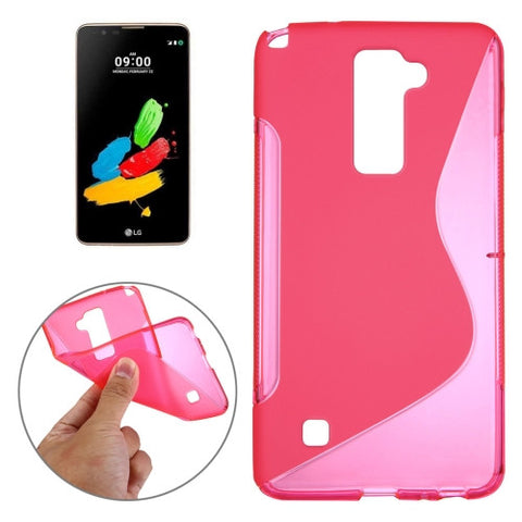 Buy Online  LG Stylus 2 S-Shaped Soft TPU Protective Cover Case(Magenta) LG Cases - MEGA Discount Online Store Ghana