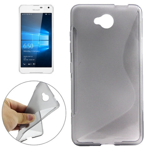 Buy Online  S-Shaped Soft TPU Protective Cover Case for Microsoft Lumia 650(Grey) Microsoft Cases - MEGA Discount Online Store Ghana