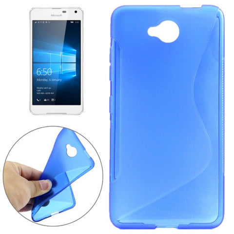 Buy Online  S-Shaped Soft TPU Protective Cover Case for Microsoft Lumia 650(Blue) Microsoft Cases - MEGA Discount Online Store Ghana