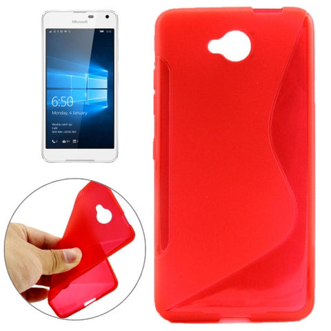 Buy Online  S-Shaped Soft TPU Protective Cover Case for Microsoft Lumia 650(Red) Microsoft Cases - MEGA Discount Online Store Ghana
