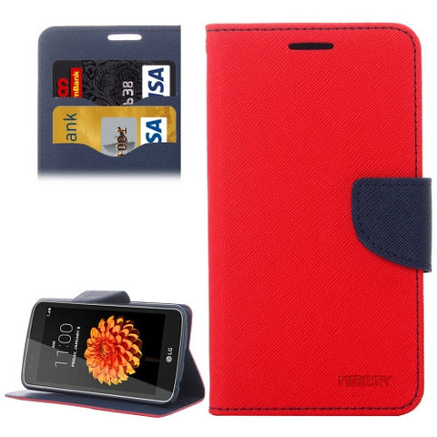 Buy Online  LG K7 Cross Texture Horizontal Flip Leather Case with Magnetic Buckle & Holder & Card Slots & Wallet(Red) LG Cases - MEGA Discount Online Store Ghana