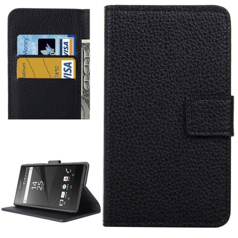 Buy Online  Sony Xperia X Litchi Texture Horizontal Flip Leather Case with Holder & Card Slots & Wallet(Black) Sony Cases - MEGA Discount Online Store Ghana