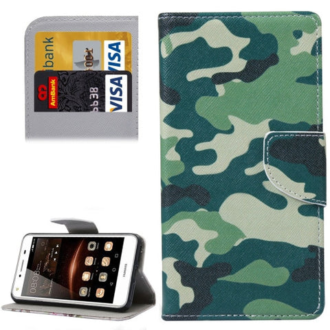 Buy Online  Huawei Y5 II Camouflage Pattern Leather Case with Holder & Card Slots & Wallet Huawei Cases - MEGA Discount Online Store Ghana