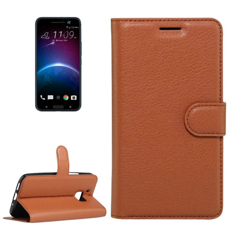 Buy Online  HTC 10 Litchi Texture Horizontal Flip Leather Case with Holder & Card Slots & Wallet(Brown) HTC Cases - MEGA Discount Online Store Ghana