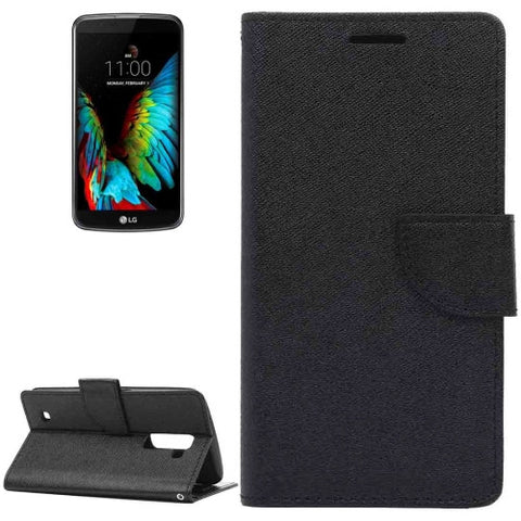 Buy Online  LG K10 Cross Texture Leather Case with Holder & Card Slots & Wallet(Black) LG Cases - MEGA Discount Online Store Ghana