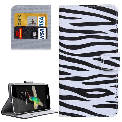 Buy Online  LG K4 Zebra Pattern Leather Case with Holder & Card Slots & Wallet LG Cases - MEGA Discount Online Store Ghana