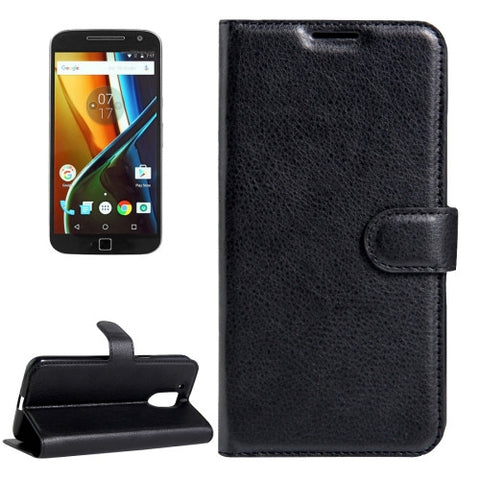 Buy Online  Motorola Moto G (4rd gen) & G (4rd gen) Plus Litchi Texture Horizontal Flip Leather Case with Magnetic Buckle & Holder & Card Slots & Wallet(Black) Motorola Cases - MEGA Discount Online Store Ghana