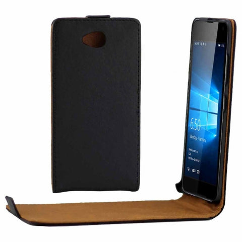 For Microsoft Lumia 650 Vertical Flip Leather Case Waist Bag with Magnetic Buckle(Black) Microsoft Cases - MEGA Discount Online Store Ghana
