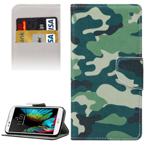 Buy Online  Camouflage Pattern Horizontal Flip Leather Case with Holder & Card Slots & Wallet for LG K10 LG Cases - MEGA Discount Online Store Ghana