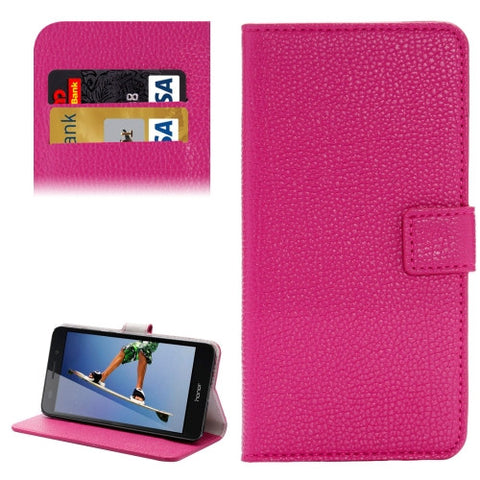 Buy Online  Huawei Honor 5A Solid Color Litchi Texture Horizontal Flip Leather Case with Holder & Card Slots & Wallet(Magenta) Huawei Cases - MEGA Discount Online Store Ghana