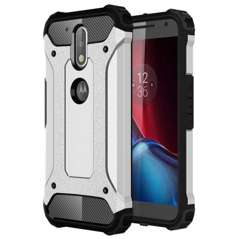 Buy Online  Motorola Moto G (4rd gen) & G (4rd gen) Plus Tough Armor TPU + PC Combination Case(Silver) Motorola Cases - MEGA Discount Online Store Ghana
