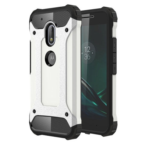 Buy Online  Motorola Moto G4 Play Tough Armor TPU + PC Combination Case(White) Motorola Cases - MEGA Discount Online Store Ghana