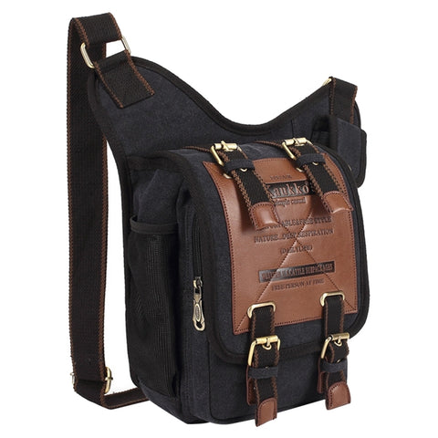 KAUKKO FH03 Retro Style Men Canvas Crossbody Bag Messenger Bag Outdoors  Hiking Camping Bag ba82f8ba67c58
