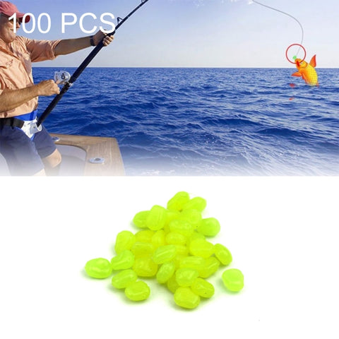 HENGJIA 100PCS Environment Friendly Plastic Niblet Baits Artificial Fishing Lures Bionic Fishing Bait (Green)