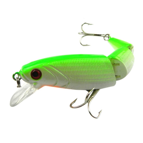 HENGJIA JM001-X 10.5cm 14g Multi-section Plastic Hard Baits Artificial Fishing Lures with Treble Hook, Random Color Delivery