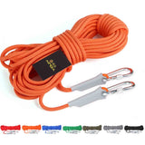 Outdoor Rock Climbing Hiking Accessories High Strength Auxiliary Cord Safety Rope, Diameter: 9.5mm, Length: 20m, Random Color