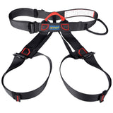 Climbing Harness Safe Seat Belt for Rock High Level Caving Climbing Adjustable Rappelling Equipment Half Body Guard Protect(Black)