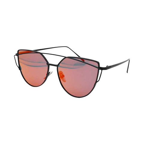 Buy Online  Unisex Fashion Color Film UV400 Reflective Sunglasses (Black + Red) Sunglasses - MEGA Discount Online Store Ghana