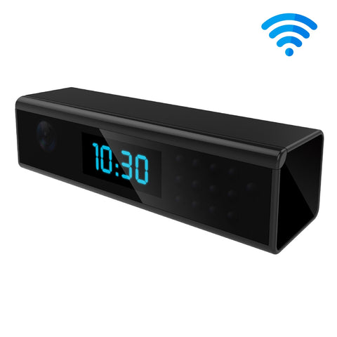 FHD 1080P Clock Style Super Mini WiFi Camera, Night Vision / Motion Detection / Time Display, Support Android iOS Phone Live Remote Monitoring / Video Recording for Home Security (Black) Camera - MEGA Discount Online Store Ghana