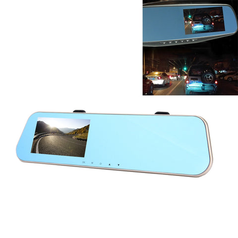 Left Screen Display Rearview Mirror Vehicle DVR, Allwinner Programs, 2 x Cameras 1080P HD 140 Degree Wide Angle Viewing, Support GPS Port/ Motion Detection / Night Vision / TF Card / G-Sensor Camera - MEGA Discount Online Store Ghana