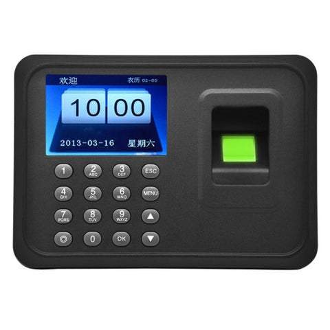 Buy Online  A6 2.4 inch Color TFT Screen Biometric Fingerprint Time Attendance, USB Communication Office Time Attendance Clock Security & Locks - MEGA Discount Online Store Ghana