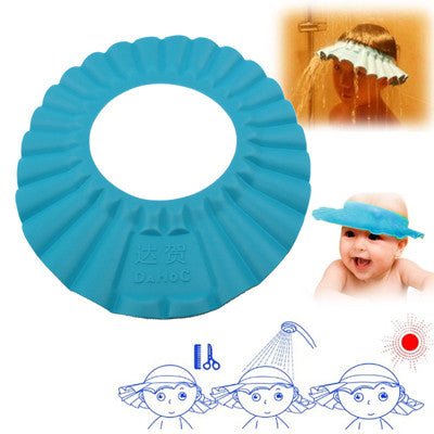 Buy Online Baby Child Kid Soft Shampoo Bath Shower Wash Hair Shield Hat Cap  (Blue 7f3f0a970e2f