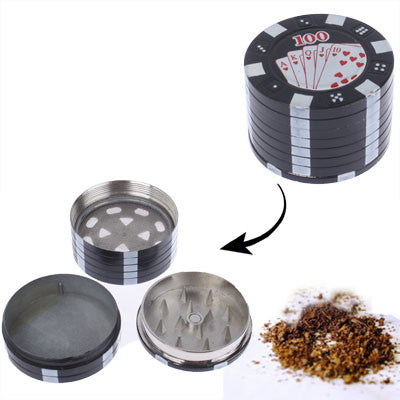 Buy Online  Poker Pattern Three Metal Mill Smoke / Broken Smoke Tool (Black) Smokers Inn - MEGA Discount Online Store Ghana