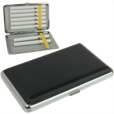 Buy Online  Stylish Metal + Artificial Leather Cigarette Case(Black) Smokers Inn - MEGA Discount Online Store Ghana