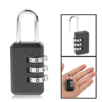 Buy Online  3 Digit Resettable Combination Security Travel Lock(Black) Security & Locks - MEGA Discount Online Store Ghana