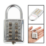 Buy Online  3-Digit Resettable Combination Padlock Set With a Wire Rope(Silver) Security & Locks - MEGA Discount Online Store Ghana