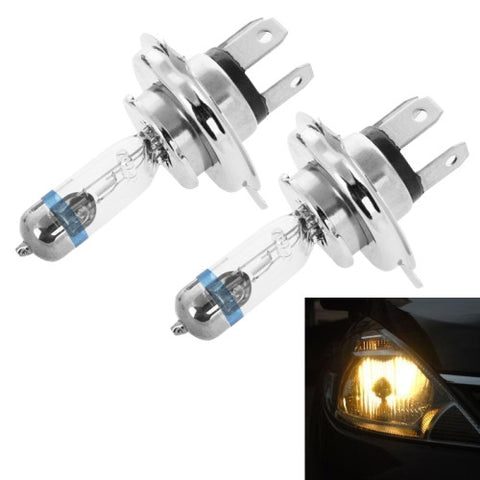 Buy Online  2 PCS H4 12V 60/55W P43T / 4300K / 2100lm Xenon Car Headlight Bulbs, Warm White LED & Bulbs - MEGA Discount Online Store Ghana